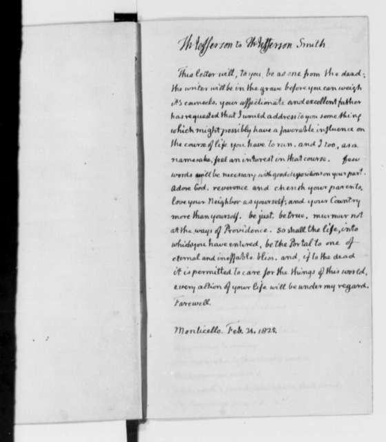 Volume 8: Jefferson's inscribed flyleaves from Cicero's De Re Publica (Boston, 1823)