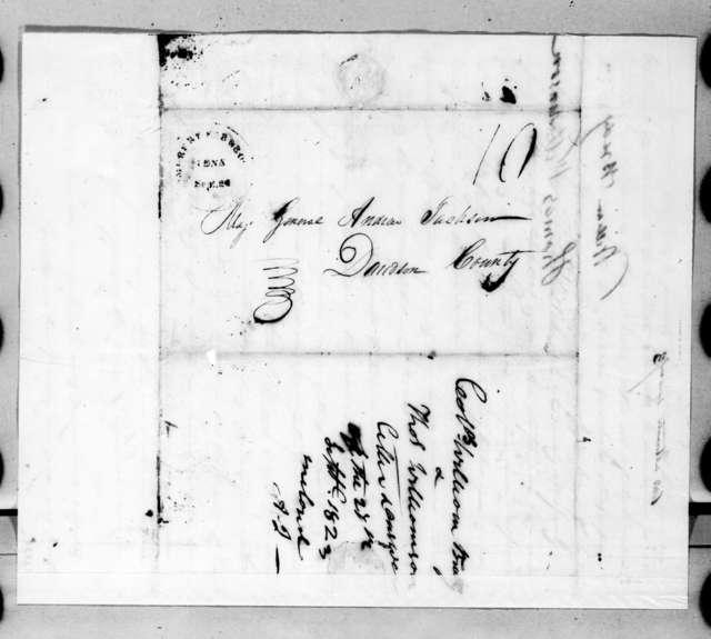 William Brady and Thomas Williamson to Andrew Jackson, September 20, 1823