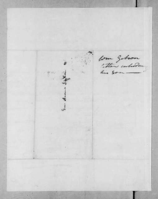 William Gibson to Andrew Jackson, April 6, 1823