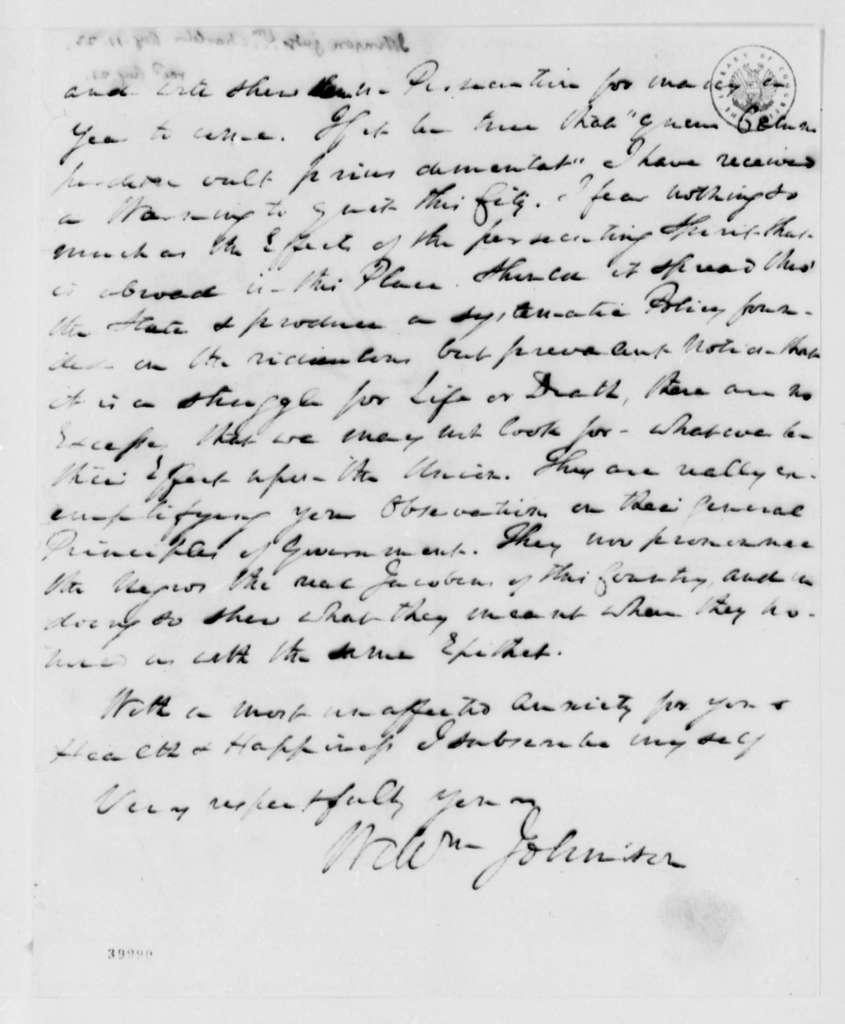 William Johnson to Thomas Jefferson, August 11, 1823