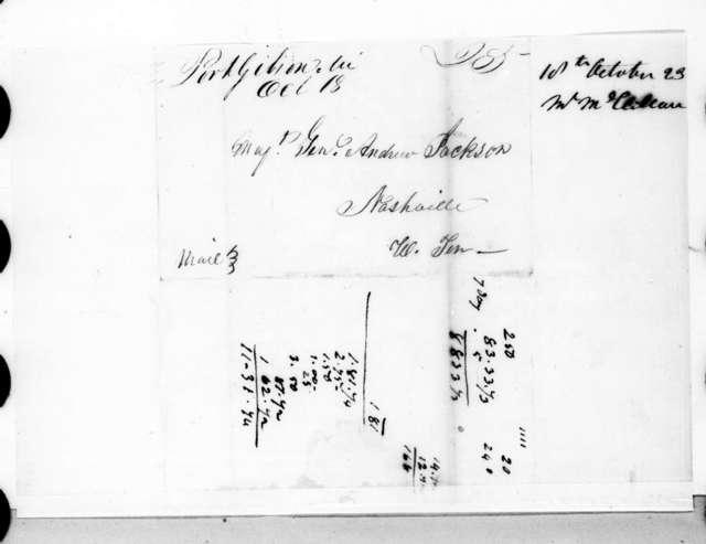 William McClellan to Andrew Jackson, October 18, 1823