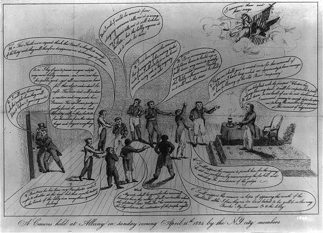 A caucus held at Albany on sunday evening April 11th. 1824 by the N.Y. city members