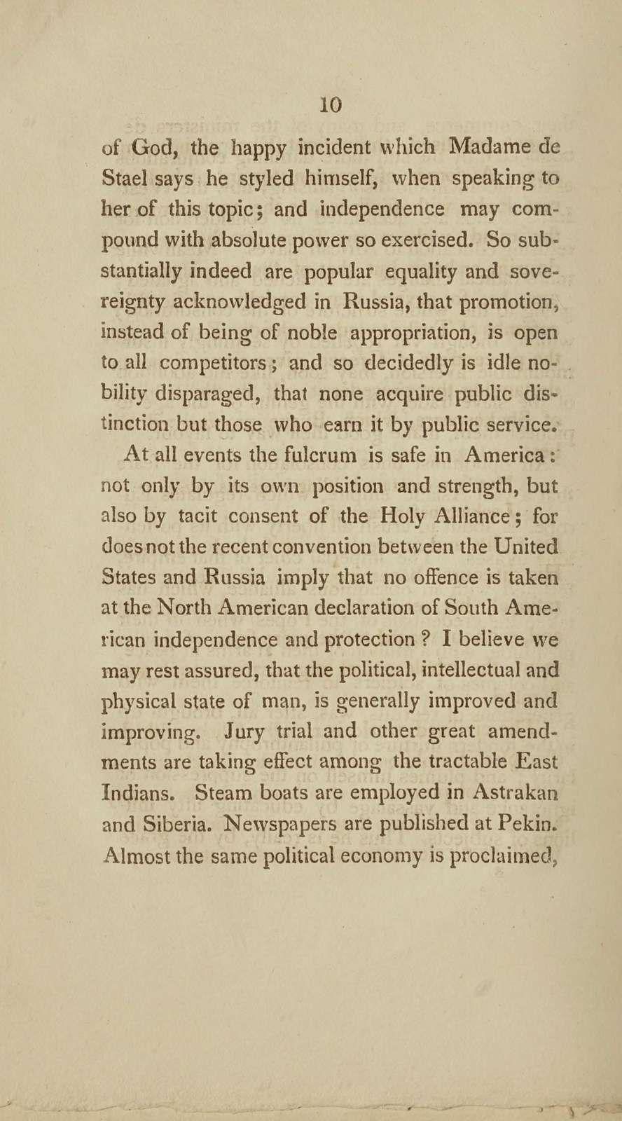 A communication on the improvement of government: read before the American Philosophical Society, at a meeting attended by General La Fayette, October 1st, 1824