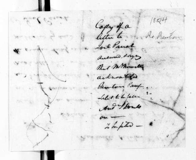 Alexander Jackson Donelson to Joel Parish Jr., October 8, 1824