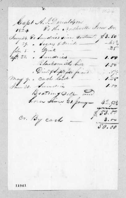 Alexander Jackson Donelson to Nashville Inn, January 24, 1824