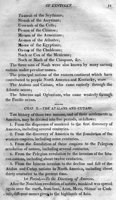 Ancient history, or, Annals of Kentucky : with a survey of the ancient monuments of North America, and a tabular view of the principal languages and primitive nations of the whole earth