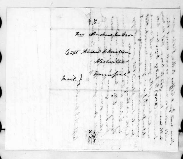 Andrew Jackson to Andrew Jackson Donelson, January 14, 1824