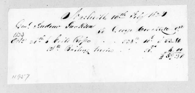 Andrew Jackson to George Crockett, February 10, 1824