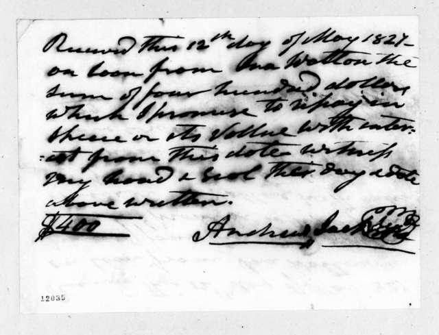 Andrew Jackson to Ira Walton, May 12, 1824