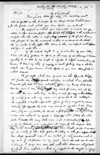 Andrew Jackson to James Tallmadge, Jr., March 12, 1824