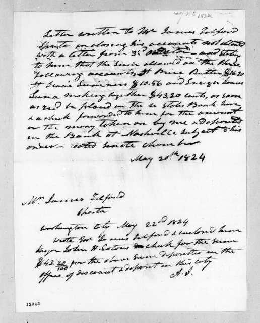 Andrew Jackson to James Telford, May 20, 1824