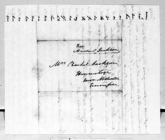 Andrew Jackson to Rachel Donelson Jackson, April 12, 1824