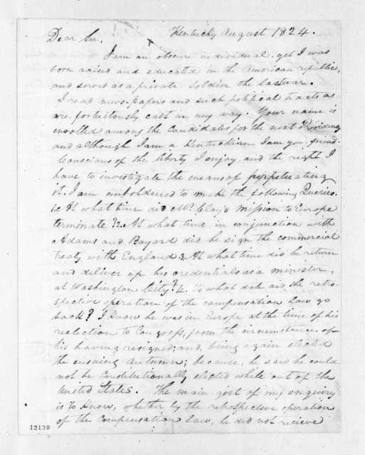 Anonymous to Andrew Jackson