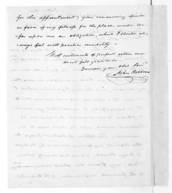 Arsher Robbins to James Madison, August 5, 1824.