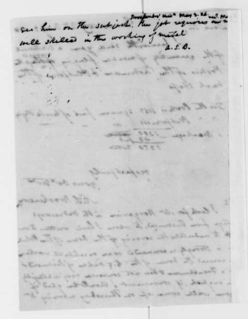 Arthur S. Brockenbrough to Thomas Jefferson, May 3, 1824