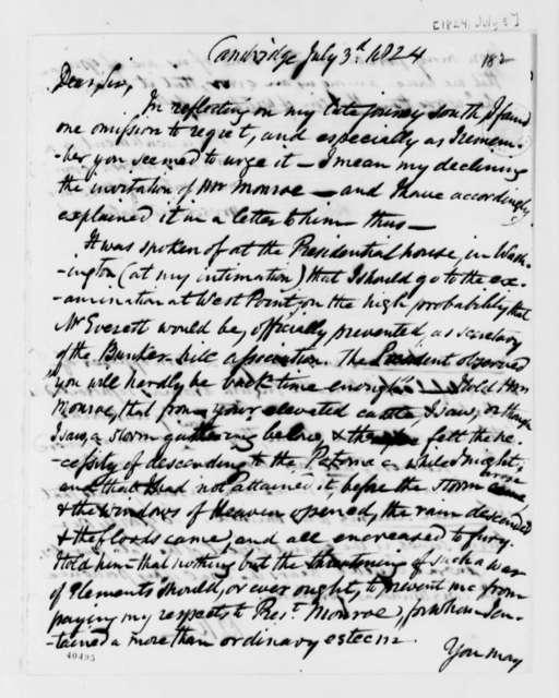 Benjamin Waterhouse to Thomas Jefferson, July 3, 1824