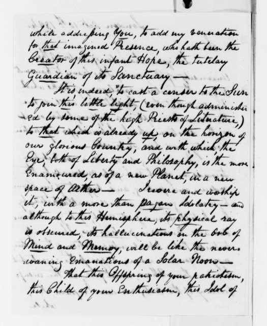 Bernard M. Carter to Thomas Jefferson, October 10, 1824