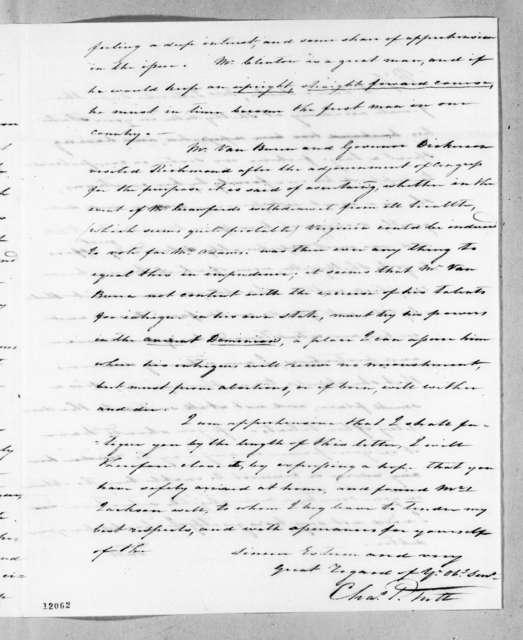 Charles Pendleton Tutt to Andrew Jackson, June 12, 1824