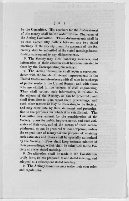 Constitution of the Pennsylvania Society for the promotion of internal improvement in the commonwealth Nov. 30, 1824.