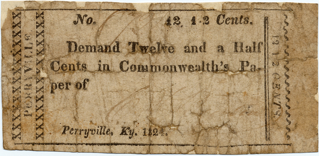 Demand twelve and a half cents in commonwealth's pa- per of
