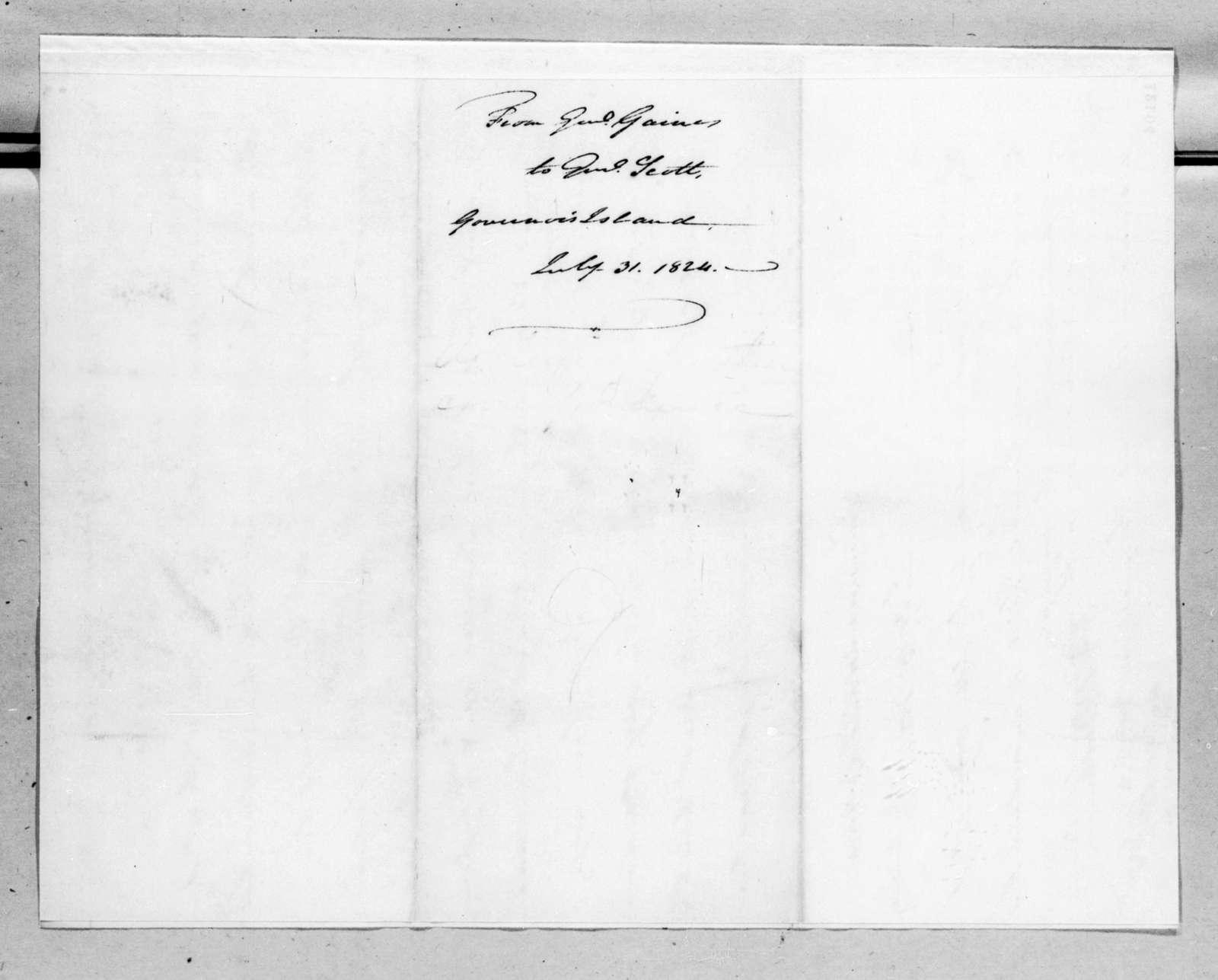 Edmund Pendleton Gaines to Winfield Scott, July 31, 1824