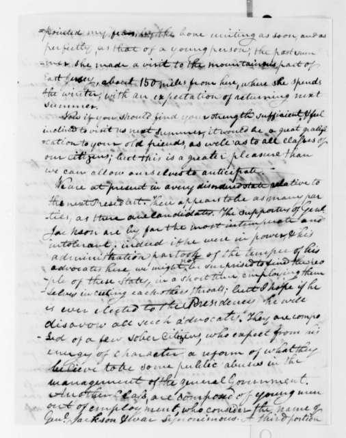 Elijah Griffiths to Thomas Jefferson, January 19, 1824