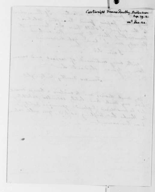 Frances D. Cartwright to Thomas Jefferson, September 29, 1824