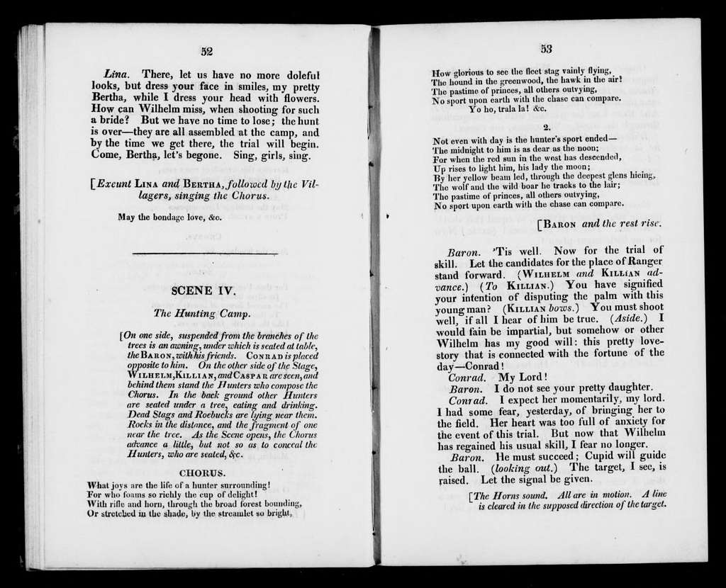 Freischütz. Libretto. English