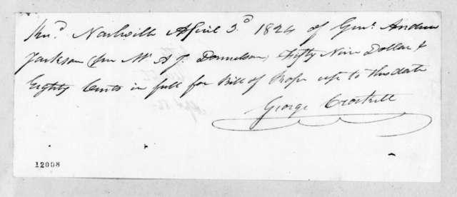 George Crockett to Andrew Jackson, April 2, 1824