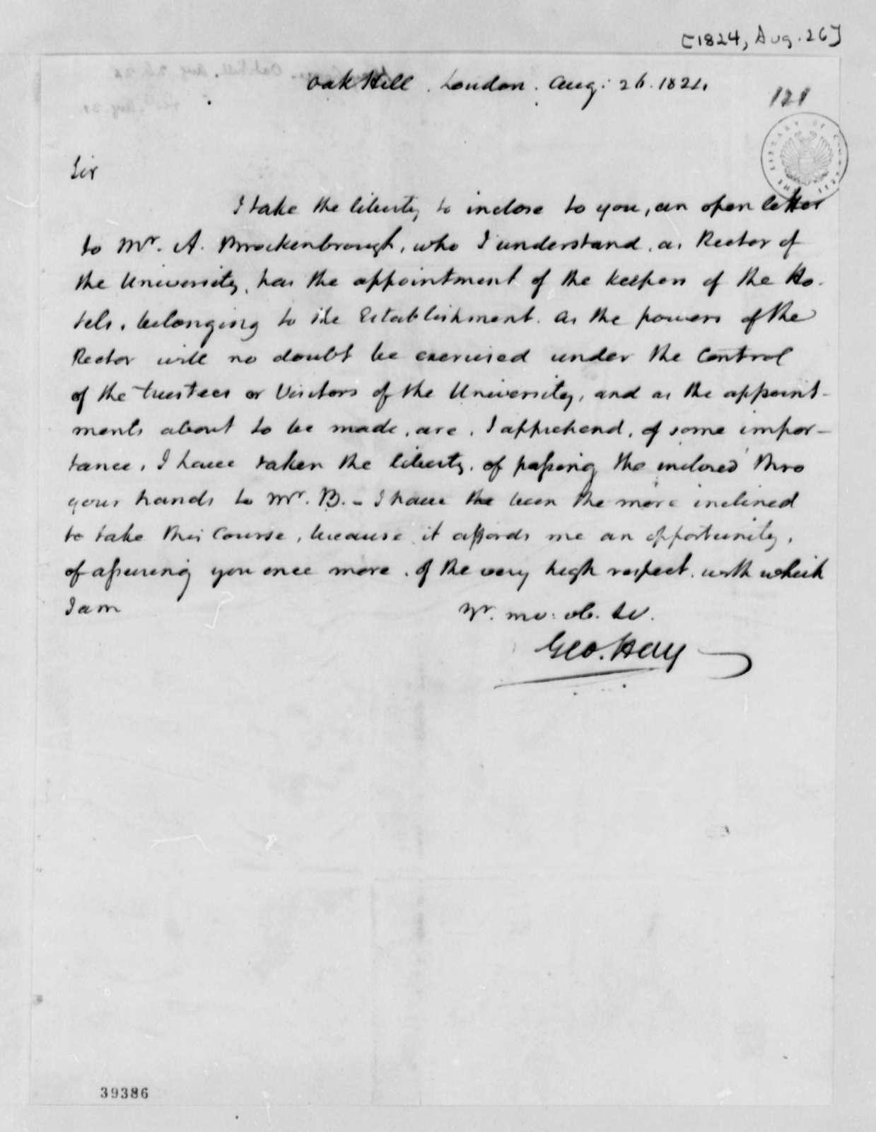 George Hay to Thomas Jefferson, August 26, 1824