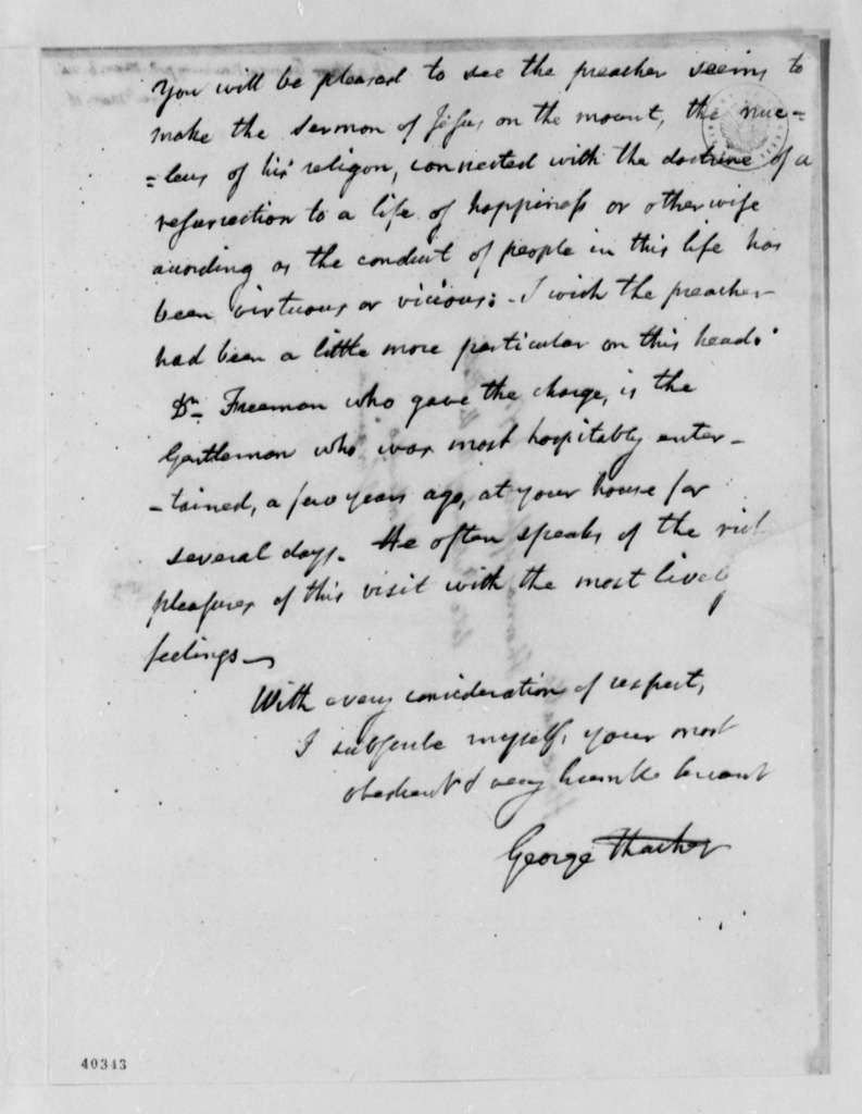 George Thacher to Thomas Jefferson, March 6, 1824