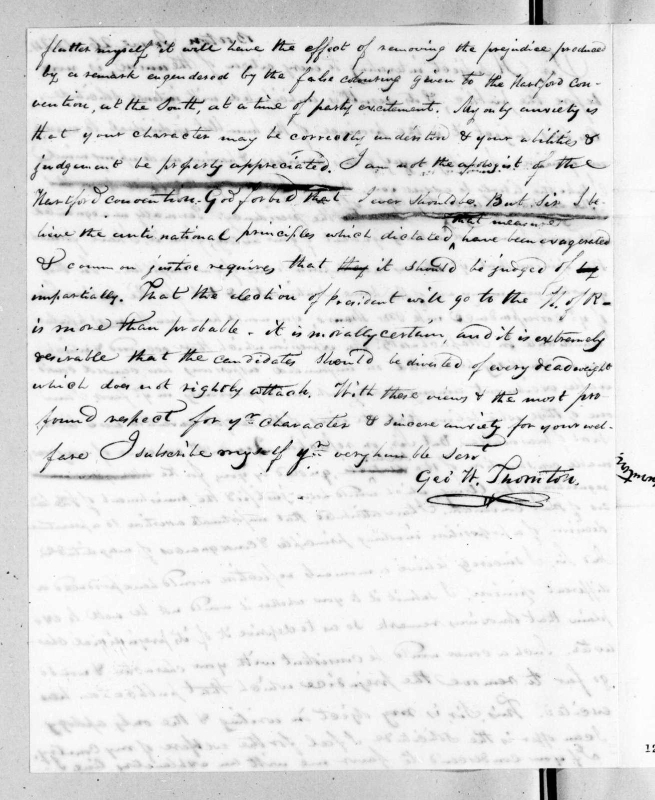 George W. Thornton to Andrew Jackson, June 26, 1824