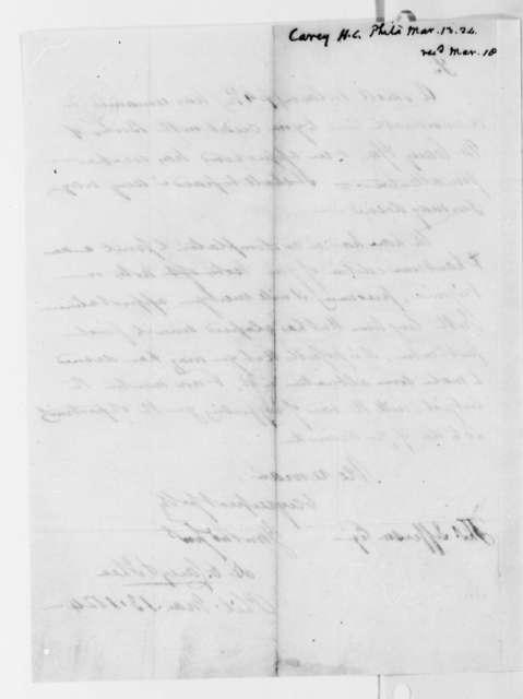 H. C. & Lea J. Carey to Thomas Jefferson, March 13, 1824