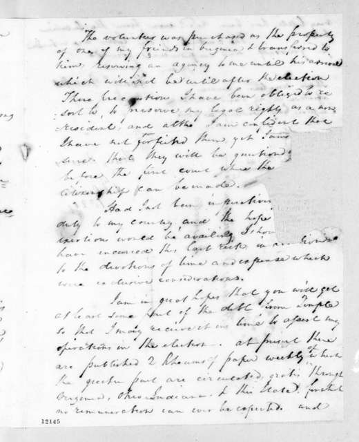 Henry Banks to Andrew Jackson Donelson, September 28, 1824