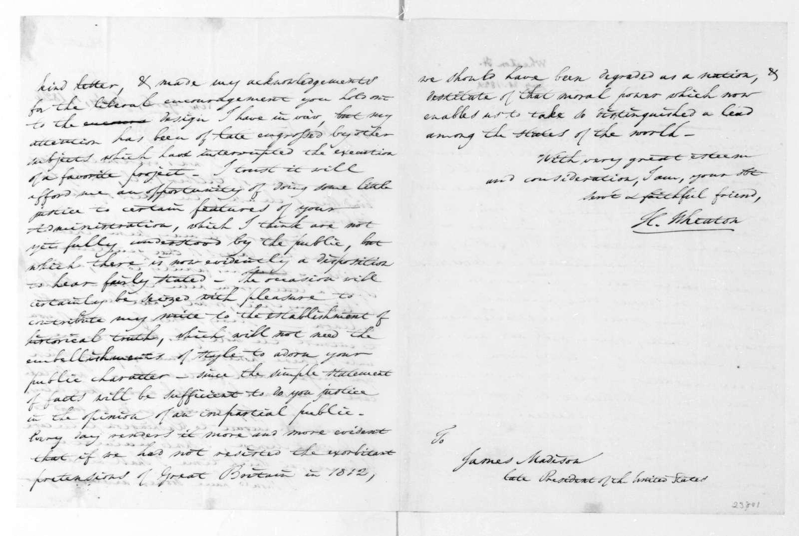 Henry Wheaton to James Madison, January 1, 1824.