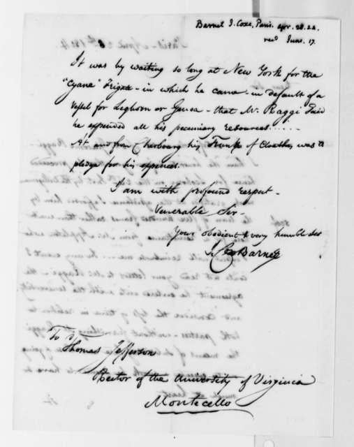 Isaac C. Barnet to Thomas Jefferson, April 28, 1824