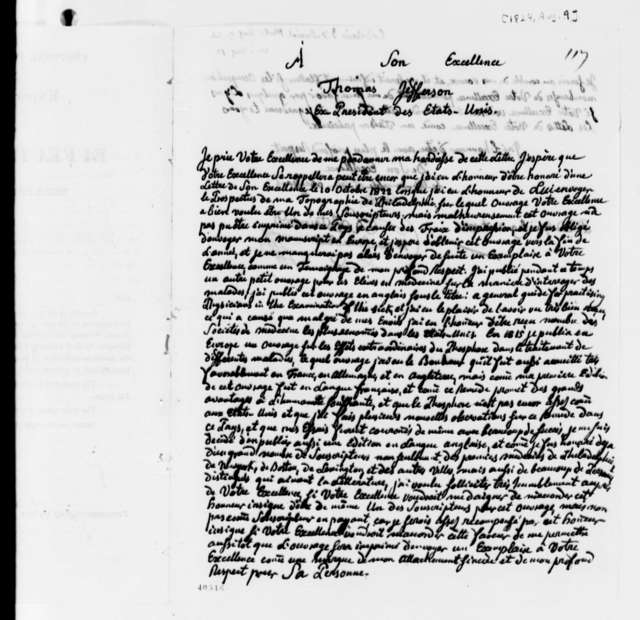 J. F. Daniel Lobstein to Thomas Jefferson, August 9, 1824, in French with English Circular