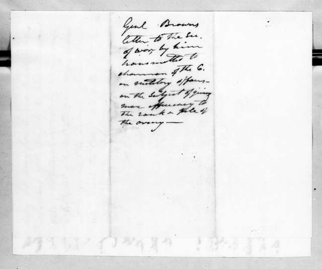 Jacob Jennings Brown to John Caldwell Calhoun, December 20, 1824