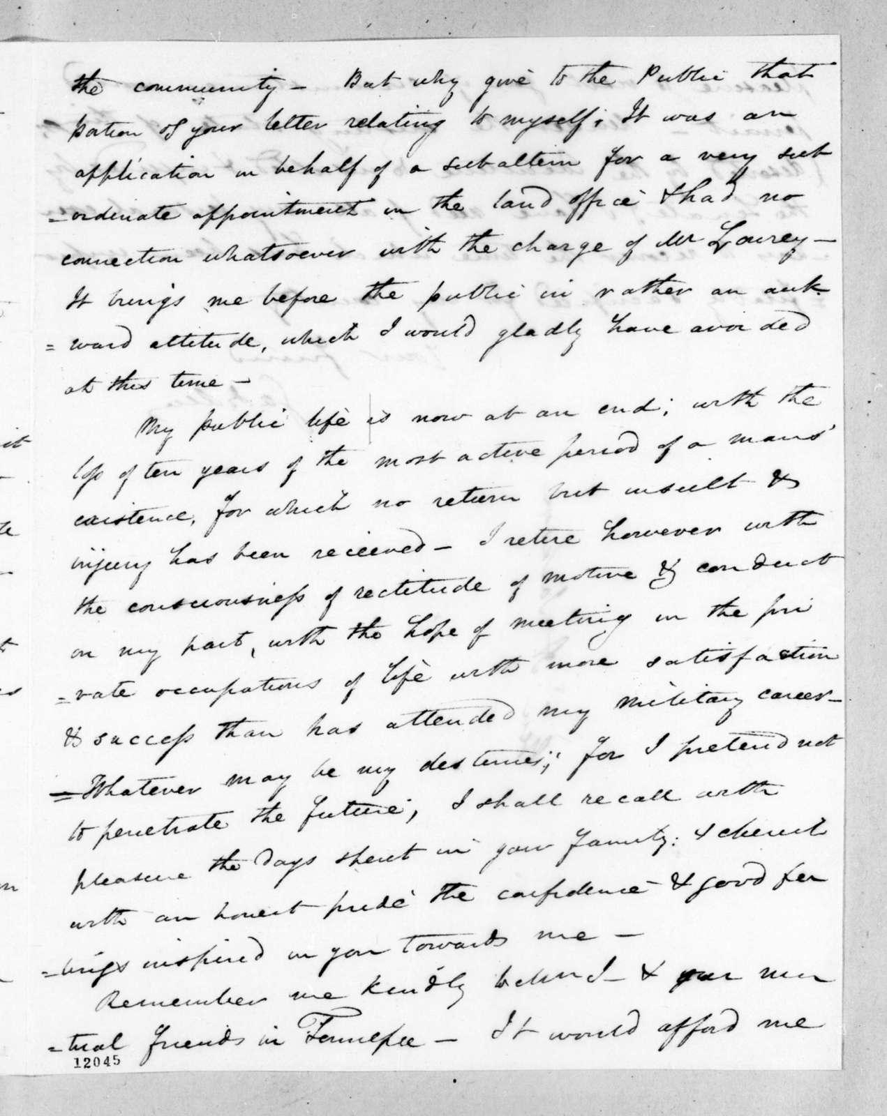 James Gadsden to Andrew Jackson, May 26, 1824