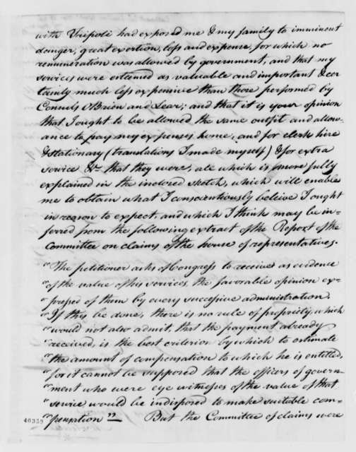 James Leander Cathcart to Thomas Jefferson, March 13, 1824