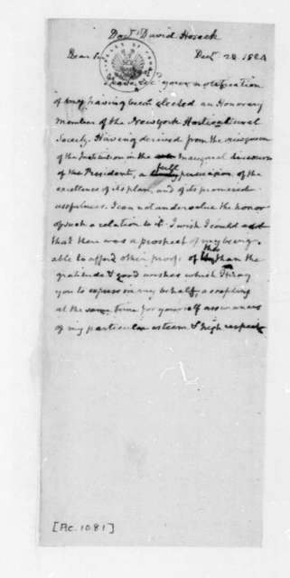 James Madison to David Hosack, December 20, 1824.