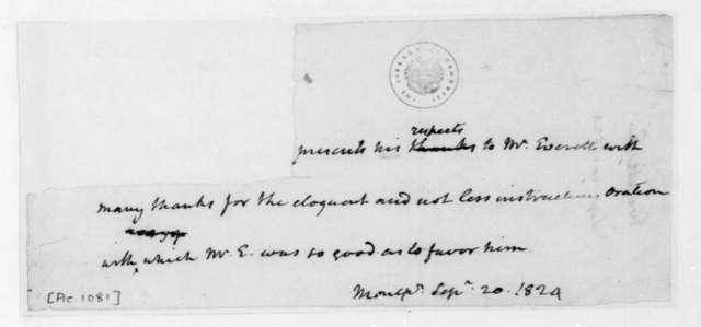 James Madison to Edward Everett, September 20, 1824.
