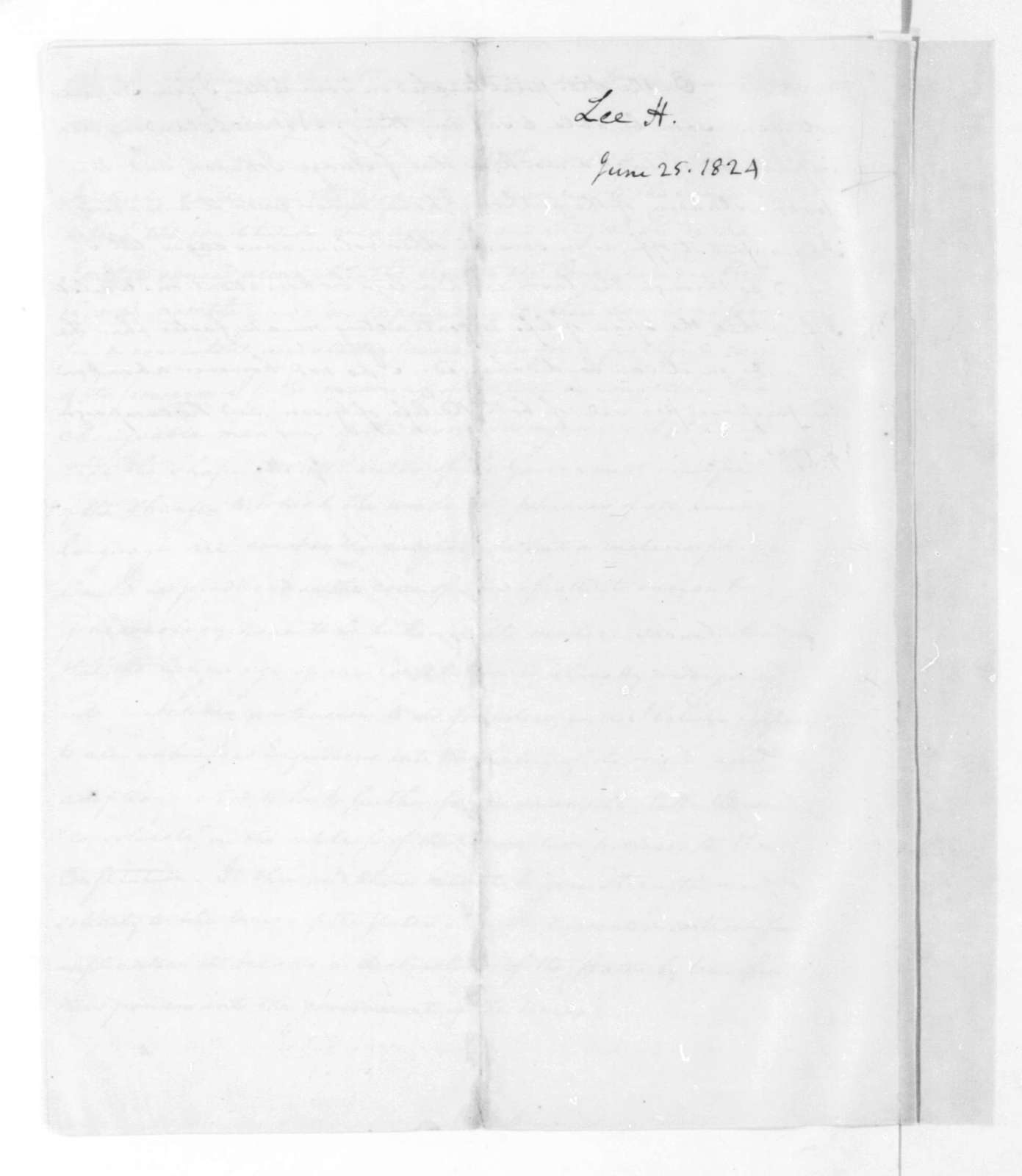 James Madison to Henry Lee, June 25, 1824.