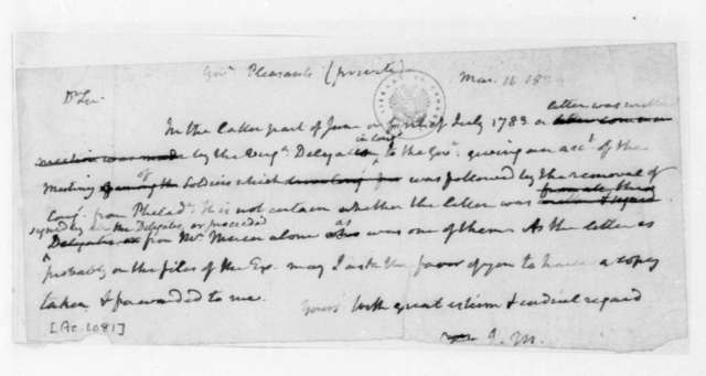 James Madison to James B. Pleasants, March 11, 1824.