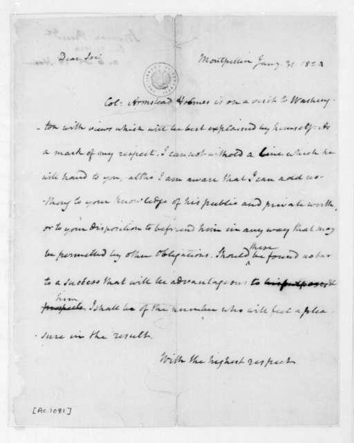 James Madison to James Monroe, January 31, 1824.