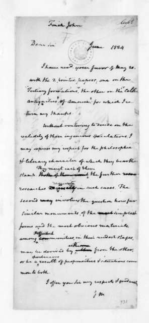 James Madison to John Finch, June, 1824.