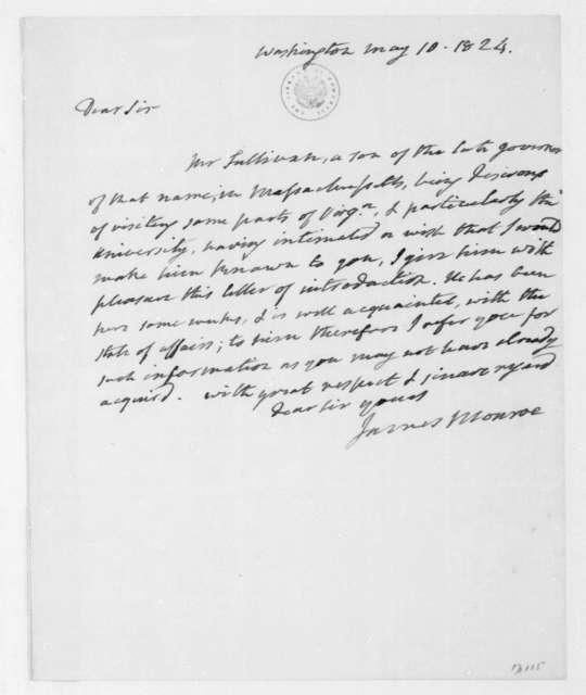James Monroe to James Madison, May 10, 1824.