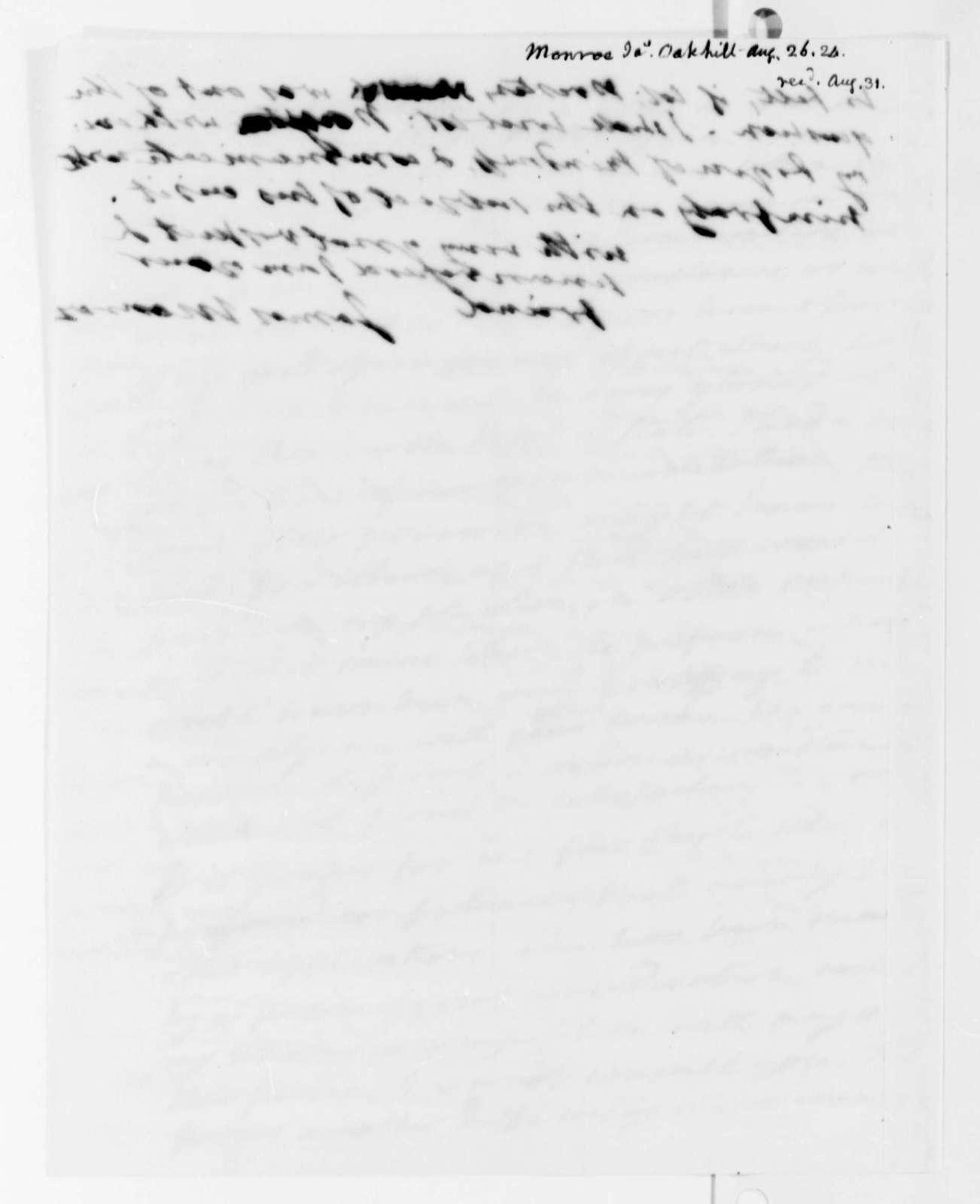 James Monroe to Thomas Jefferson, August 26, 1824