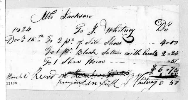 Jared Whitney to Rachel Jackson, December 15, 1824