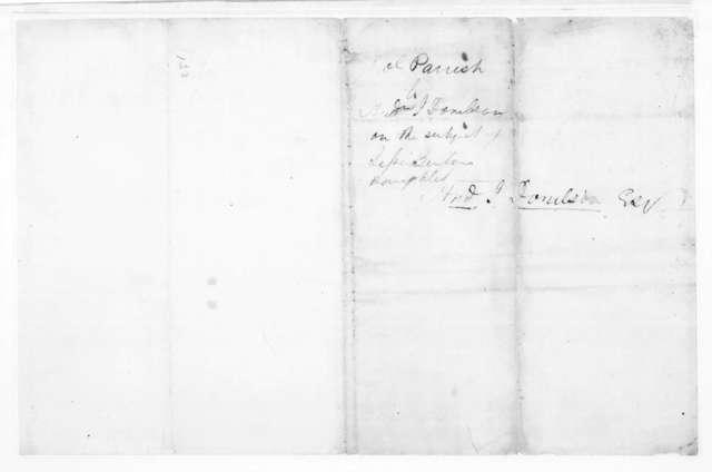 Joel Parrish, Jr. to Andrew Jackson Donelson, October 12, 1824